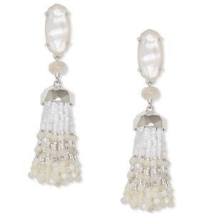Kendra Scott Dove Statement White Tassel Earring
